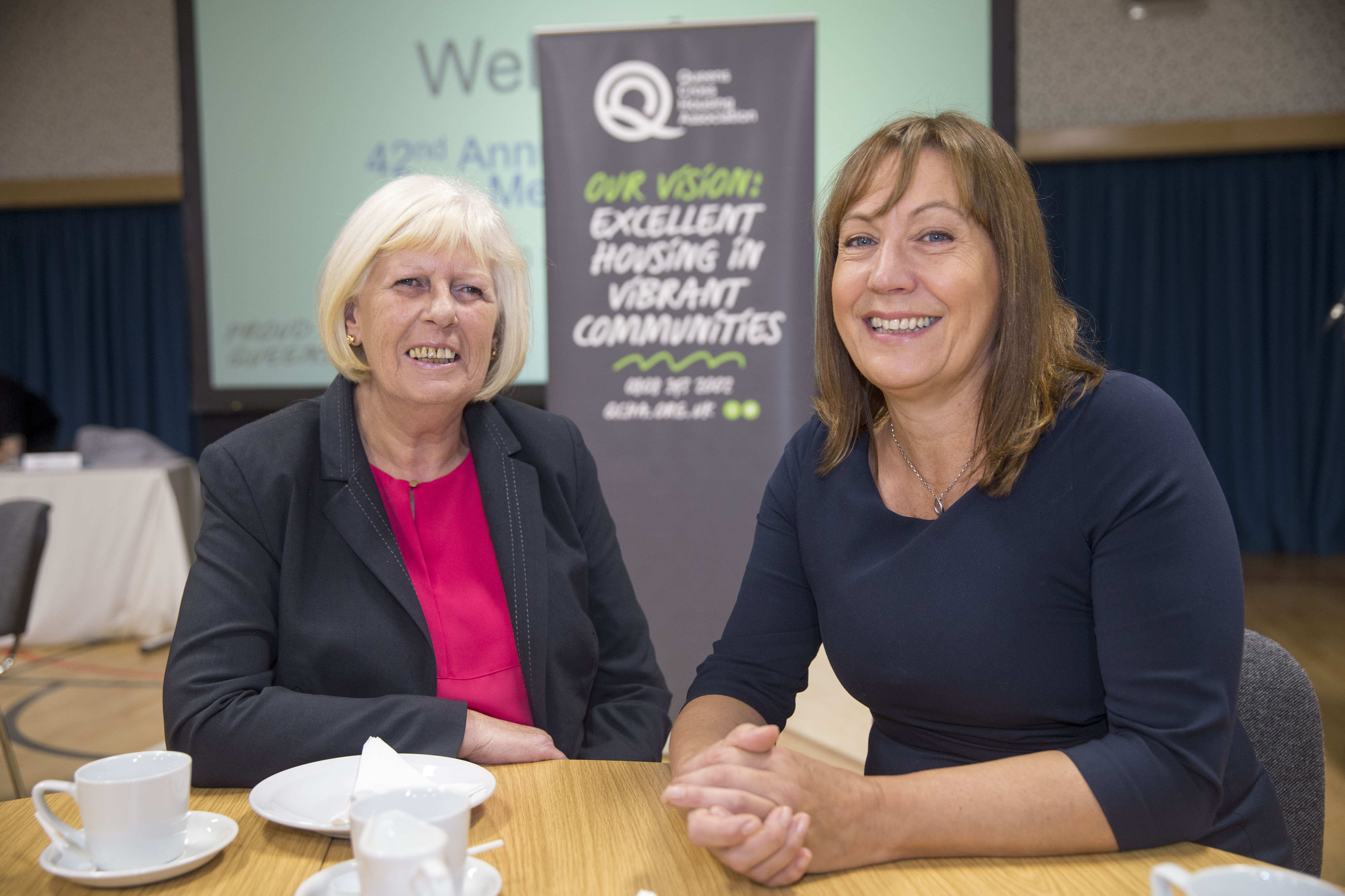 Queens Cross Chair Marilyn Clewes, left, with the Association's Chief Executive Shona Stephen.